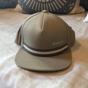 Tan RVCA men's hat